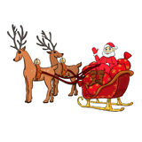 Sleigh with gifts Royalty Free Stock Photography