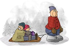 Sleigh Ride. royalty free illustration