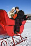 Sleigh ride. Royalty Free Stock Photography