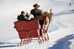 Sleigh ride. Stock Image