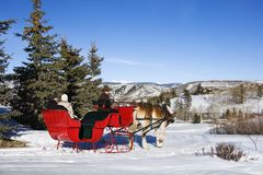 Sleigh ride. stock images