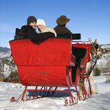 Sleigh ride. royalty free stock image