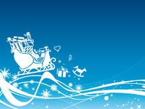 Sleigh of santa claus Stock Images