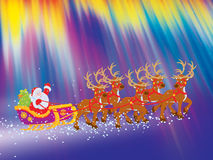 Sleigh of Santa Claus Stock Photos