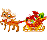 Sleigh of Santa Claus royalty free illustration
