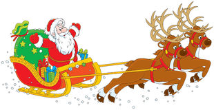Sleigh of Santa Claus Royalty Free Stock Images