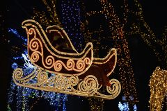 In the sleigh of Santa Claus Royalty Free Stock Images