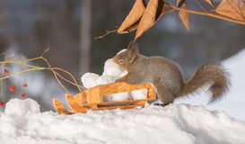 Sleigh with snowballs Royalty Free Stock Photography