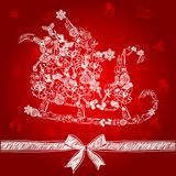 Sleigh vector Royalty Free Stock Images