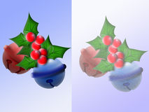 Sleighbell 1. Two different versions of some Christmas bells Royalty Free Stock Image