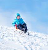Sleighing Aktivität des Winters Lizenzfreies Stockbild