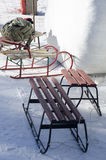 Sleighs on the snow Stock Photography