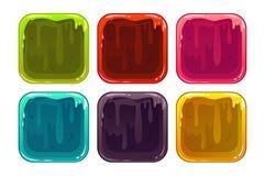 Slemmiga app-ramar för tecknad film Arkivbild