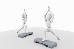 Slender athlete aerobics Royalty Free Stock Image
