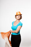 Slender and athletic grandmother Stock Image