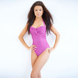 Slender beautiful woman in a swimsuit Royalty Free Stock Photography