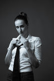 Slender Caucasian Female Portrait stock photos