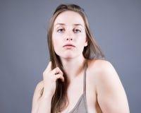 Slender Caucasian Female Portrait royalty free stock images
