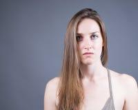 Slender Caucasian Female Portrait stock photography
