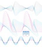 Slender 3d textile motif background, set of curved stripy flowin Stock Image