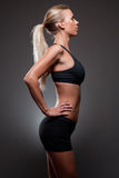 Slender fit beauty. Royalty Free Stock Photos