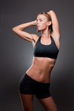 Slender fit beauty. Stock Photo