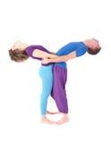 Slender flexible couple Royalty Free Stock Images