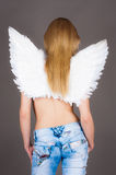 Girl with angel wings Royalty Free Stock Photography