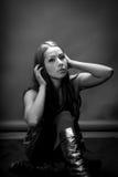 Slender Latina Model In 20's Royalty Free Stock Photos