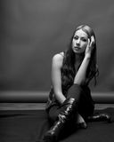 Slender Latina Model In 20's Stock Photography