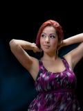 Slender Latina Model In 20's Stock Photos