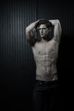 Slender Male Washboard Abs Royalty Free Stock Photo
