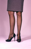 Slender womans legs Royalty Free Stock Photography