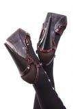 Slender women's legs Royalty Free Stock Images