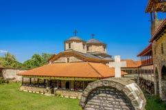 Slepce kloster - by Slepce, Makedonien Royaltyfri Foto