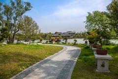 Slepen van de het Meertuin van het Yangzhou de Slanke Westen Stock Fotografie