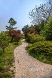 Slepen van de het Meertuin van het Yangzhou de Slanke Westen Stock Afbeeldingen