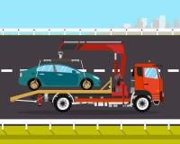 Slepenvrachtwagen Stock Afbeelding