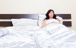 Sleppless Woman Stock Photography