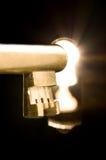 Sleutel in het sleutelgat Royalty-vrije Stock Foto's