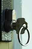 Sleutel in het slot Stock Afbeeldingen
