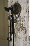 Sleutel in het slot royalty-vrije stock fotografie