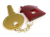 Sleutel met huis Royalty-vrije Stock Afbeelding