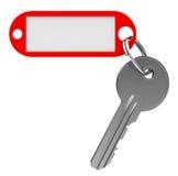 Sleutel met keychain Stock Afbeeldingen