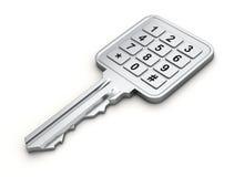 Sleutel met numeriek toetsenbord Royalty-vrije Stock Foto's