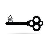 Sleutel met vector van het huis de zoete huis Royalty-vrije Stock Foto