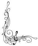 Sleutel, muziekblad Royalty-vrije Stock Afbeelding