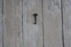 Sleutel op een muur Stock Foto's