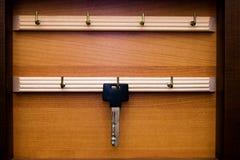 Sleutel op hanger Stock Afbeelding