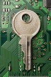 Sleutel tot de netwerkbescherming stock afbeelding